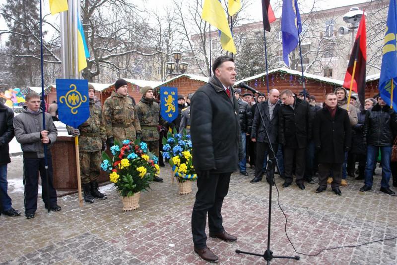 Олег Тягнибок відзначив 100-річчя від дня народження Ярослава Стецька на Тернопільщині