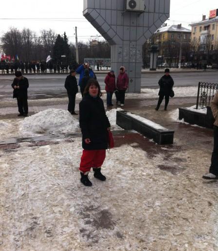 Як стриптизерка  провела Антимайдан (фото)