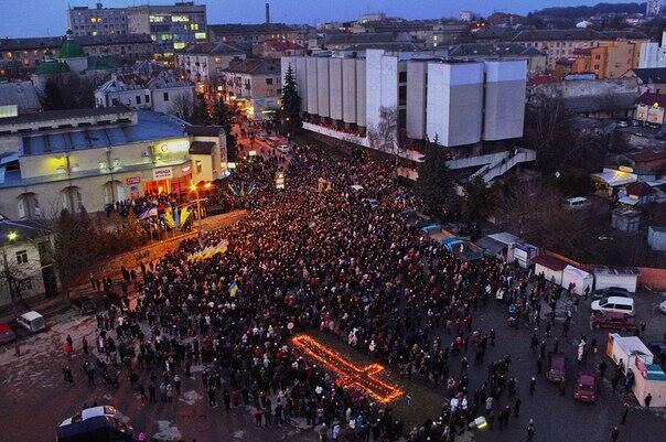 У Тернополі відкрили площу Героїв Євромайдану