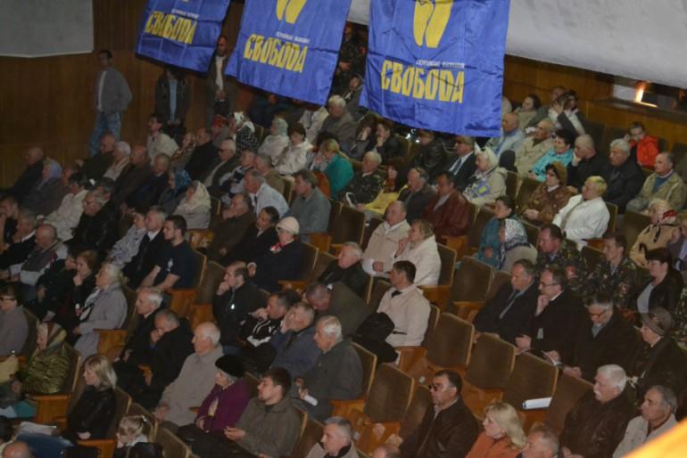 Олег Тягнибок у Тернополі: суцільне розчарування (фото, відео)