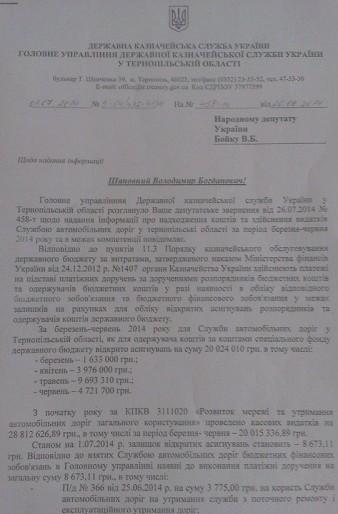 Недобитки регіоналів продовжують розвалювати дорожню галузь на Тернопільщині