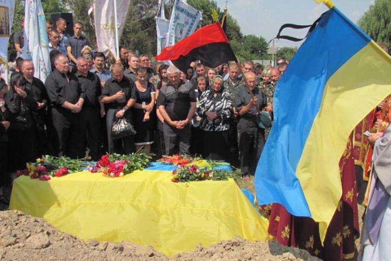 Гусятинщина прощалась зі своїм героєм Миколою Руснаком