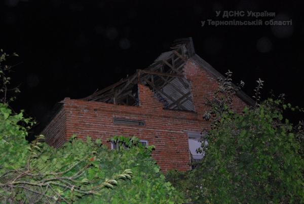 У селі Кальне Козівського району пошкоджено 11 житлових будинків
