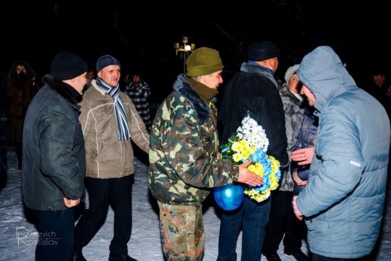 Як жителі Теребовлі зустрічали свого захисника Юрія Пушкіна з АТО