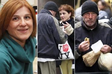 Француженка, прогуливаясь по Нью-Йорку, приняла американского актера Ричарда Гира за бездомного и, не узнав его, предложила ему кусок пиццы