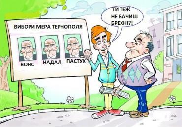 Жартівливе опитування про вибори мера Тернополя