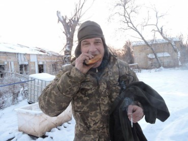 """Перший марш групи """"Схід та Захід єдині"""" на українські позиції перед Різдвом"""