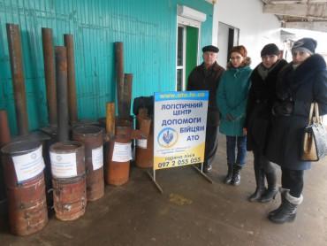 """11 """"буржуйок"""" передали працівники Тернопільського обласного управління водних ресурсів волонтерам для відправки в зону АТО"""
