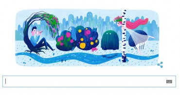 Google змінив свій логотип на честь 145 річниці з дня народження Лесі Українки