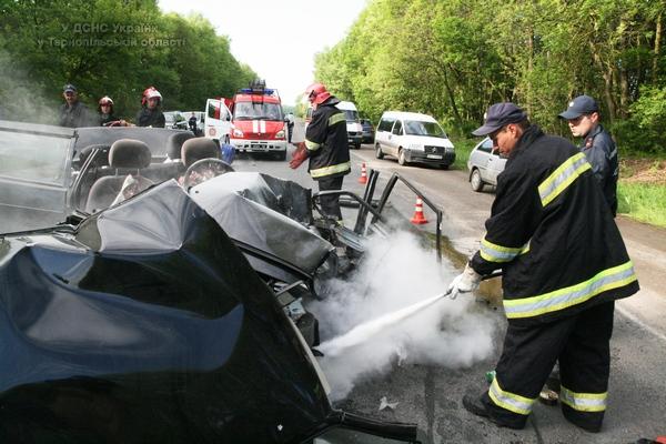 Рятувальники залучалися до ліквідації наслідків ДТП біля Збаража