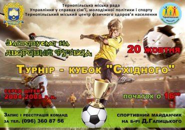 """Сьогодні у Тернополі стартує футбольний турнір """"Кубок  Східного"""""""