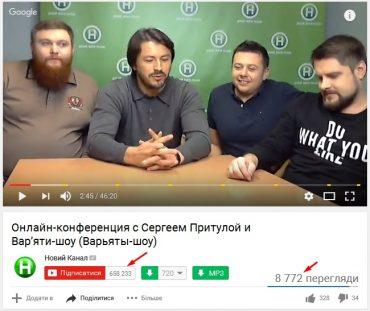 """Онлайн-конференція Сергія Притули та """"Варя'ти-шоу"""" не викликала інтересу у фанатів"""