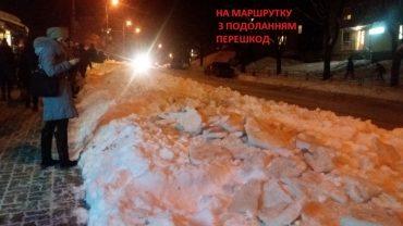 Один штрих про роботу комунальників із засніженого Тернополя