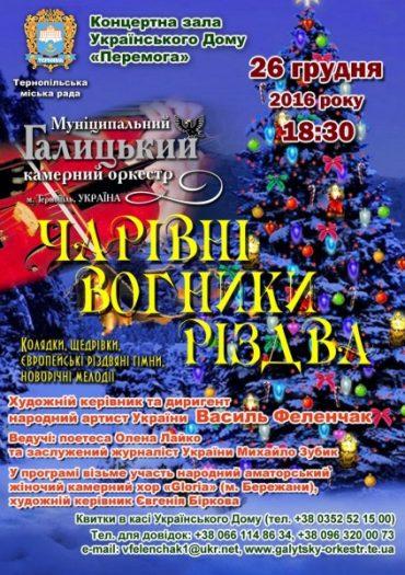 """Муніципальний Галицький камерний оркестр запалить """"Чарівні вогники Різдва"""""""