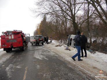 На Тернопільщині перекинувся рейсовий автобус