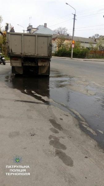 """Джоджиківський пивзавод """"Опілля"""" й далі забруднює дороги Тернополя"""
