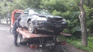 Патрульні розшукали водія, який вчинив ДТП
