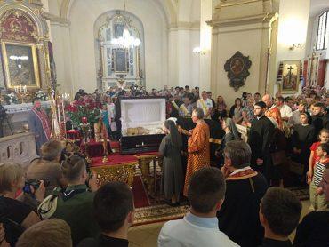 Прощання з Блаженнішим Любомиром у Львові