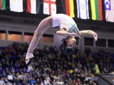 Тернопільська гімнастка Анастасія Бачинська виборола чотири медалі на турнірі в Трнаві