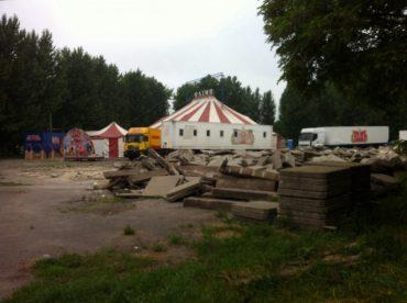 У Тернополі цирк розмістили на сміттярці центрального парку