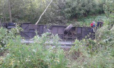 На Тернопільщині автобус з туристами впав у прірву