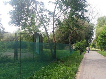 """У парку """"Топільче"""" вже загородили земельну ділянку під платні тенісні корти"""