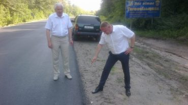 Заступнику Барни показали що це за ремонт доріг робиться на Тернопільщині
