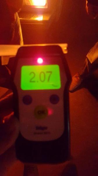 У водія патрульні зафіксували в 11 разів вищу дозу алкоголю