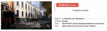 У центрі Тернополі здається в оренду приміщення Укртелекому за 200 тисяч гривень