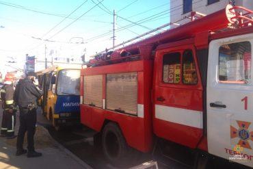 Завдяки наявності у маршрутному автобусі вогнегасника, пожежу ліквідували за лічені хвилини