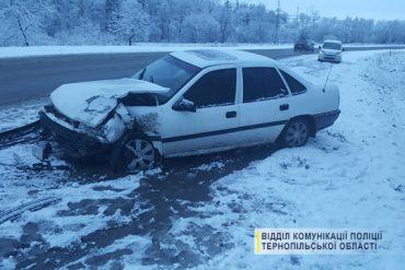 Перший сніг та ожеледь стали причиною ДТП в Тернопільському районі
