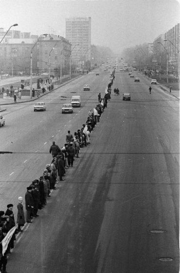 28 років тому мільйони українців утворили ланцюг єдності від Львова до Києва