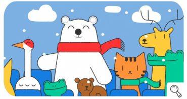 Google створив дудл про зимові Олімпійські ігри 2018 Пхьончхані