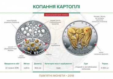 """Національний банк ввів в обіг срібну пам'ятну монету """"Копання картоплі"""""""