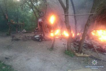 У Тернополі спалили циганський табір