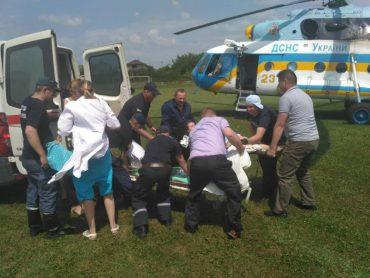 Вертоліт привіз вагітну жінку до обласної лікарні