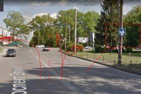 На перехресті вулиць Злуки та 15 квітня іномарка підрізала маршрутку