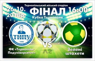 26 жовтня у Тернополі фінал кубка