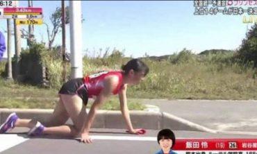 Японська спортсменка зламала ногу за 200 метрів до завершення марафону, але доповзла фінішу