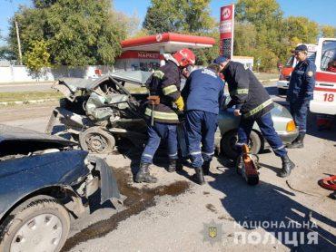 Три автомобілі зіткнулися в Тернопільському районі