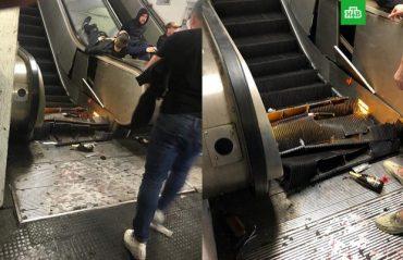 Фанати московського ЦСКА в Римі розвалили ескалатор у метро