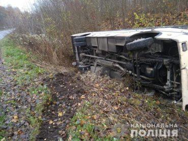 На Тернопільщині в аварію потрапив рейсовий автобус