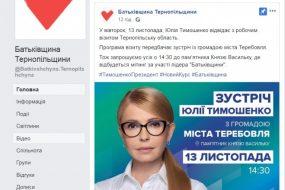 """У Теребовлі налаштовані критично на приїзд Тимошенко, а в Тернополі """"намалюють"""" пропуски"""