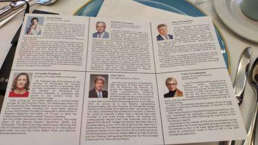 У Давосі Порошенко, Тимошенко і Гриценко не помітили одне одного і не віталися, сидячи за одним столом