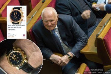 Сьогодні нардеп прийшов у Верховну Раду з годинником, вартістю 2 мільйони гривень