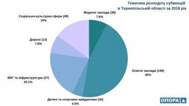 Тернопільщина у трійці аутсайдерів за кількістю отриманих коштівдержавних субвенцій