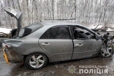 На Кременеччині іномарка врізалася у вантажівку