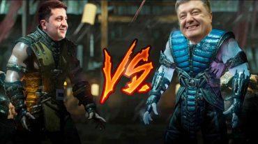 """Школярі з Тернопільщини створили комп'ютерну гру """"Дебати"""" між Зеленським і Порошенко"""