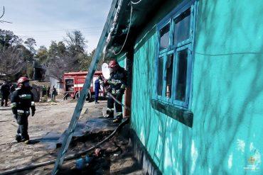Під час пожежі жінка врятувала з палаючої будівлі трьох дітей