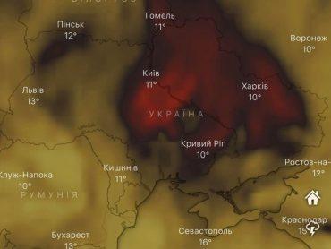 Над Україною аномально великі викиди чадного газу: найбільші в Європі
